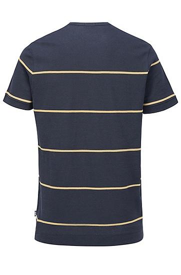 男士休闲条纹T恤,  480_淡蓝色