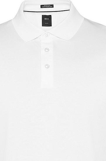 男士纯色时尚休闲商务短袖Polo衫,  100_白色