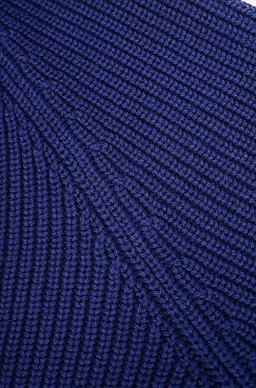 女士舒适休闲长袖针织衫,  408_暗蓝色