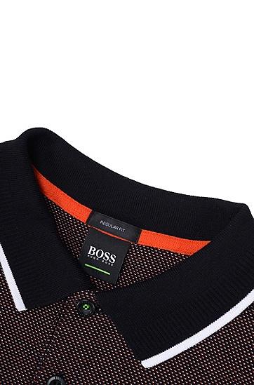 男士运动休闲常规版长袖POLO衫,  001_黑色