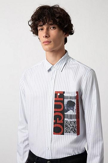 男士休闲版长袖棉质衬衫,  452_浅蓝色