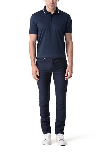 男士休闲牛仔裤,  412_海军蓝色