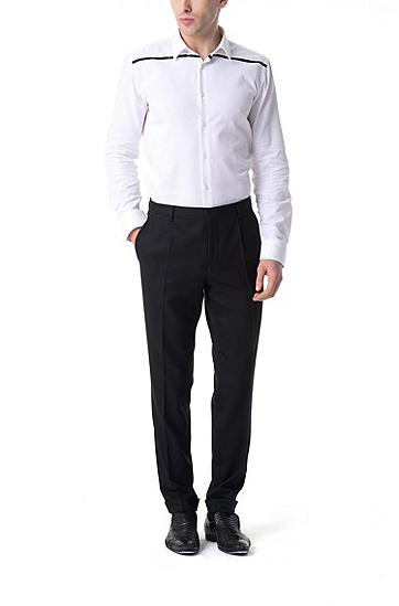 男士商务休闲长裤西装裤,  001_黑色