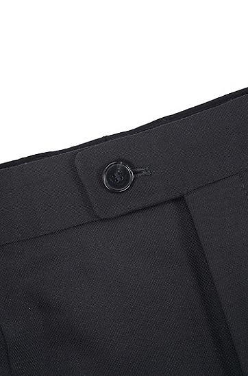 男士商务休闲羊毛九分裤,  001_黑色