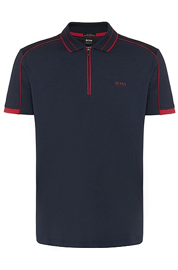 男士休闲时尚短袖polo衫T恤衫,  410_海军蓝色