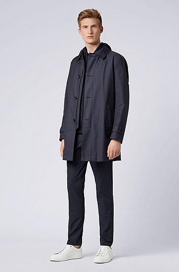 男士常规版型连帽马甲,  402_暗蓝色