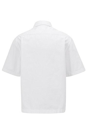 男士商务休闲短袖衬衫,  100_白色