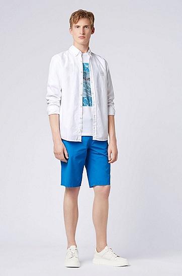 男士印花短袖T恤,  100_白色