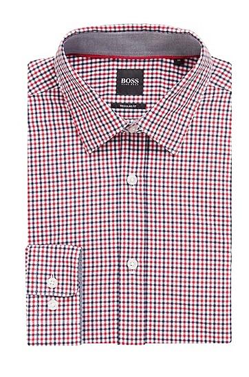 男士商务休闲格纹长袖衬衫,  480_淡蓝色