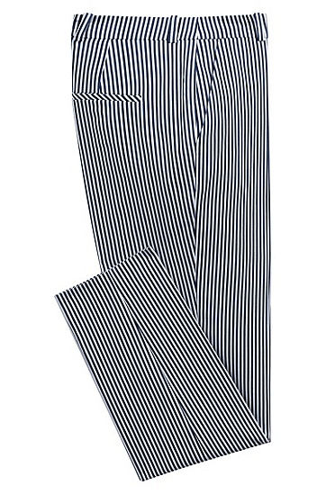 女士商务休闲条纹西装长裤,  964_多色