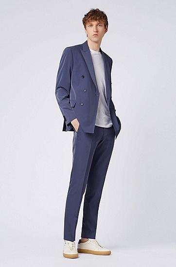 男士西装套装,  475_淡蓝色