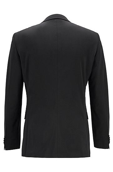 男士经典黑色羊毛商务西服套装,  001_黑色
