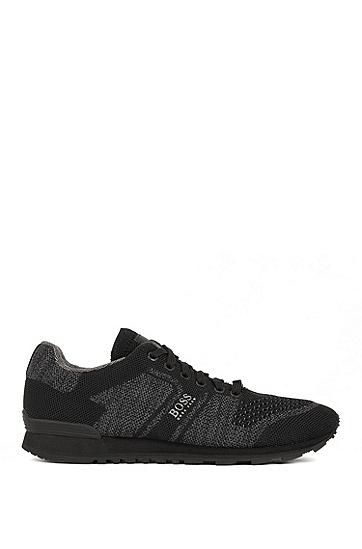 男士休闲运动低帮系带鞋,  001_黑色