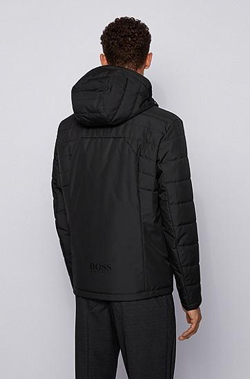 标准款连帽领拉链封口外套,  001_黑色