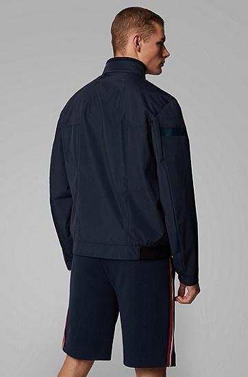 男士防水双层面料拉链夹克,  410_海军蓝色
