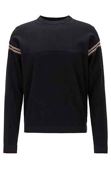 男士棉毛标识运动衫,  001_黑色