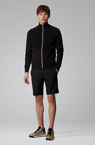 常规版型束腰式夹克,  001_黑色
