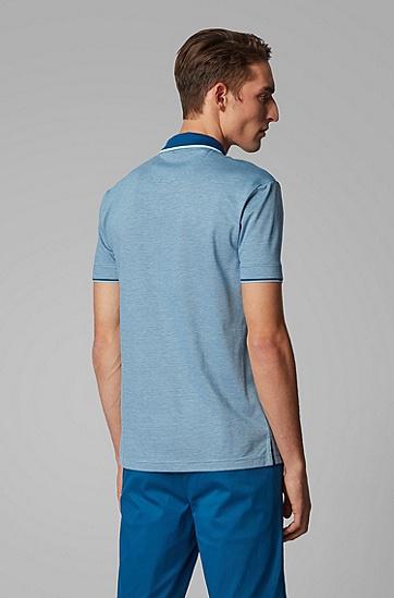 男士三色微图案棉质珠地布 Polo 衫,  434_亮蓝色