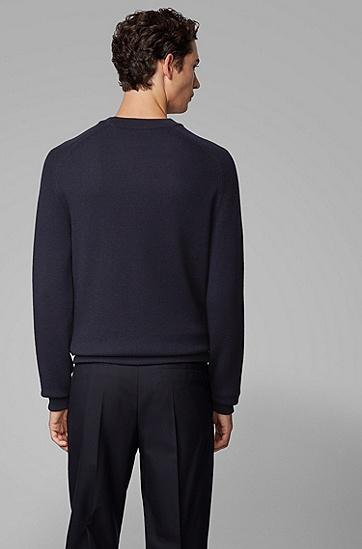 【预售30天内发货】Porsche x BOSS联名款男士罗纹衣袖及突出细节拉链夹克,  402_暗蓝色
