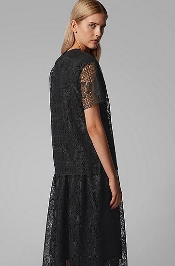 女士时尚短袖,  001_黑色