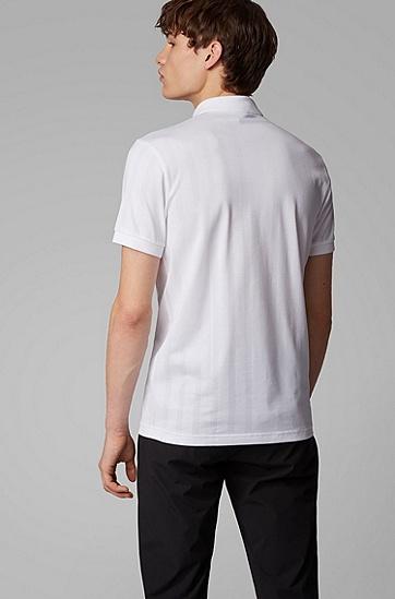 男士针织面料修身 Polo 衫,  100_白色