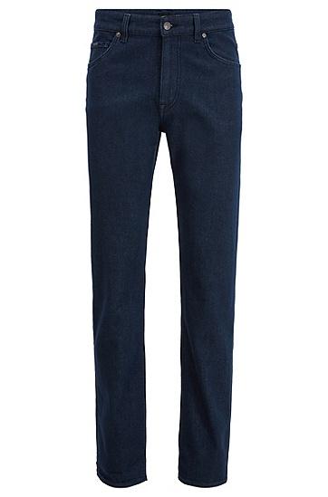男士弹力牛仔布宽松牛仔裤,  412_海军蓝色