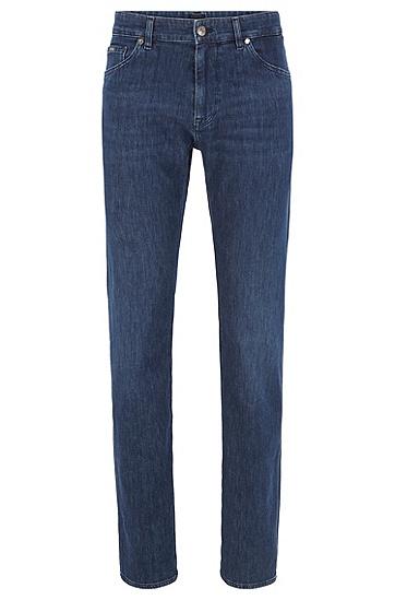 男士常规版型深蓝色意大利牛仔裤,  412_海军蓝色