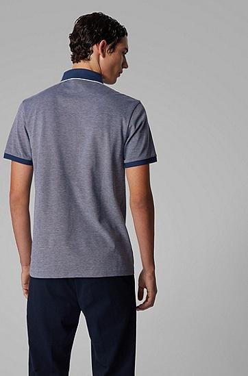 男士牛津棉珠地布常规版型 Polo 衬衫,  407_暗蓝色