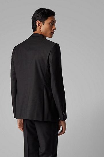 男士修身商务羊毛西服外套,  001_黑色