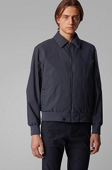 男士三合一可拆卸填棉背心飞行员夹克,  406_暗蓝色
