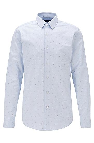 男士剪线面料修身版衬衫,  450_浅蓝色