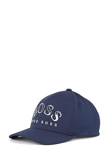 斜纹布刺绣弧形徽标运动帽,  410_海军蓝色