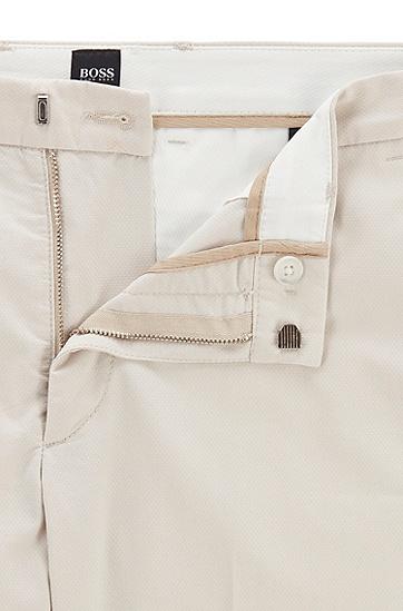 男士弹力棉混纺修身版休闲裤,  102_天然色