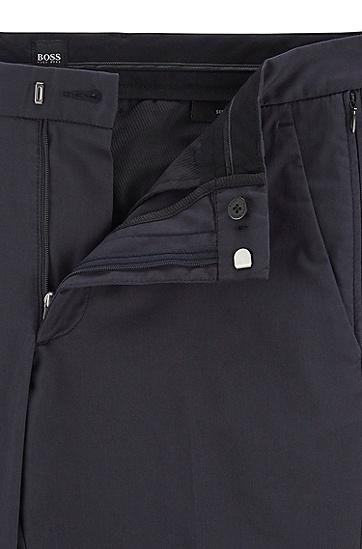 弹力棉混纺修身版休闲裤,  402_暗蓝色