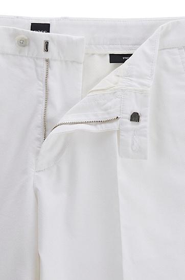 棉质混纺修身短裤,  100_白色
