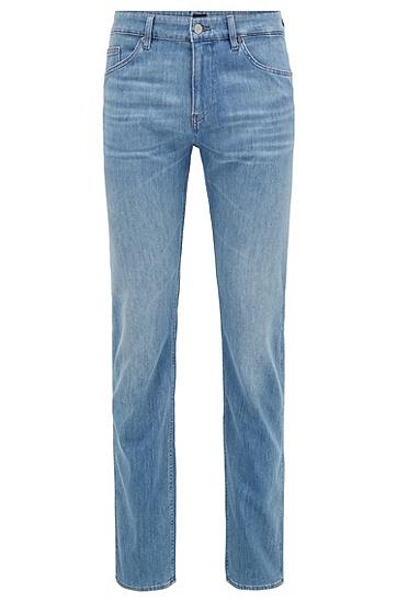 薄款亮蓝色意大利牛仔布修身牛仔裤,  442_水蓝色