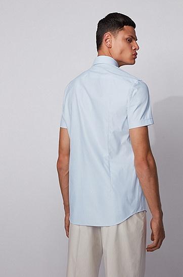 浅蓝色修身版衬衫 by BOSS,  450_浅蓝色