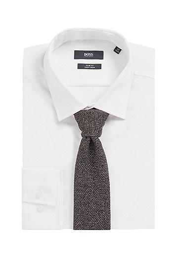 凹凸针织结构真丝领带,  030_中灰色