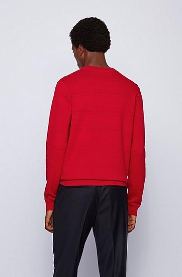 棉质和初剪羊毛面料双面毛衣,  620_亮红色