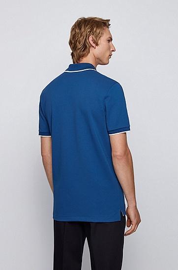 有机棉和再生纱线 Polo 衫,  417_海军蓝色