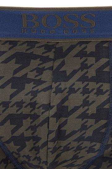 通体印花装饰弹力棉短裤,  342_淡绿色