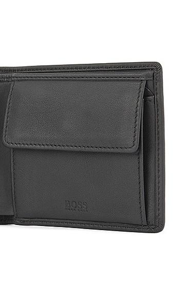 钱包和钥匙环组合皮革配饰套装,  001_黑色