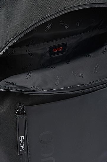 双向拉链封口笔记本电脑背包,  001_黑色