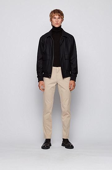 弹力棉绸缎修身版休闲裤,  275_浅米色