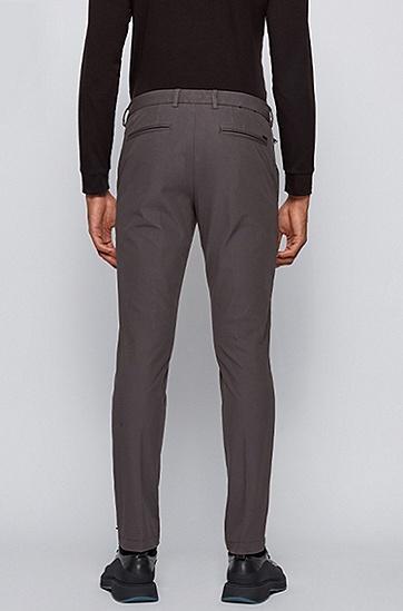 弹力斜纹布修身长裤,  032_中灰色