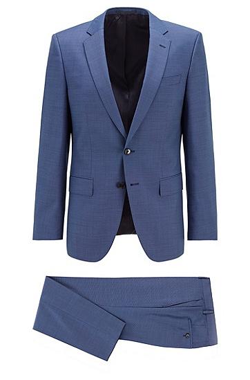 意大利羊毛修身西服,  417_海军蓝色