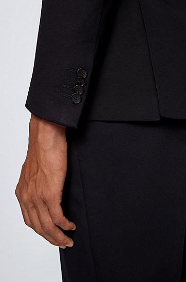 弹力棉贴袋超修身西服夹克,  402_暗蓝色