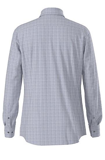 男士格子衬衫,  418_海军蓝色