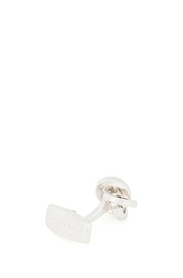 结节设计抛光金属袖扣,  040_银灰色