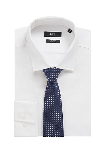 防水真丝提花微图案领带,  419_海军蓝色